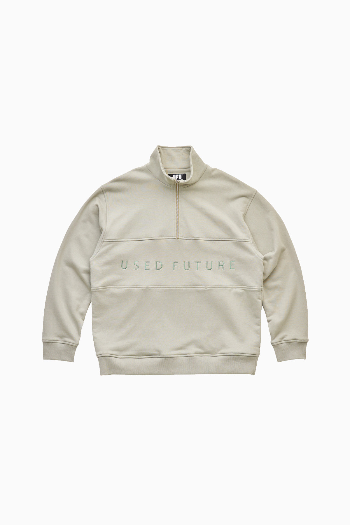 QUARTER ZIP UP_KHAKI