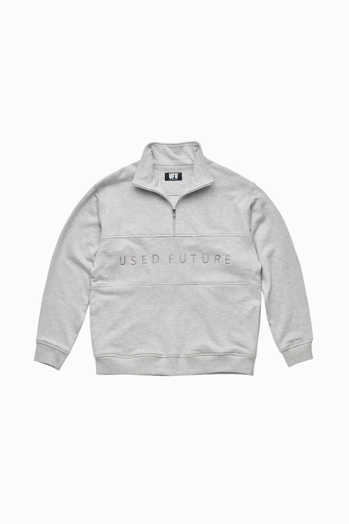 QUARTER ZIP UP_GREY