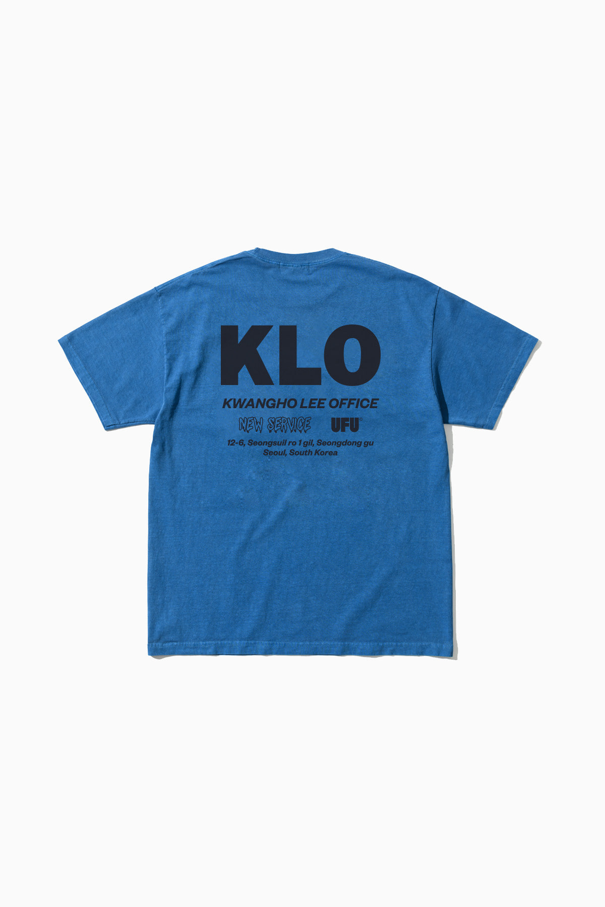 UFU X KWANGHO LEE NEW SERVICE T-SHIRT_BLUE
